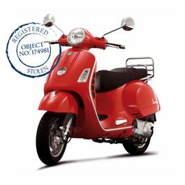 Gestolen scooter